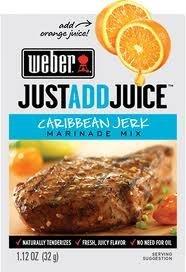 Weber Caribbean Jerk Marinade Mix, 1.12 oz. Packets (4 Pack) Just Add Juice!