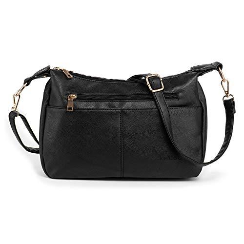 Katloo Shoulder Purse Women PU Leather Crossbody Bag Handbag for Cell Phones Wallet Cosmetics