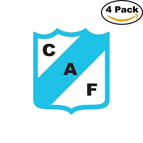 fan products of Club Atletico Ferrocarril de Concordia Argentina Soccer Football Club FC 4 Stickers Car Bumper Window Sticker Decal 4X4