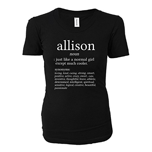 Allison Name Meaning. Dictionary Format. Funny Gift - Ladies T-shirt