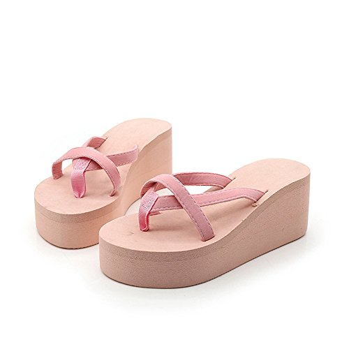 Pink 40 Verano Pink Libre Size 2 color Al 3 Love As Aire Eu Chanclas Sandalias Mujer Angel Beauty Cu Casual Zapatillas Plataforma De qXTwBHwUa