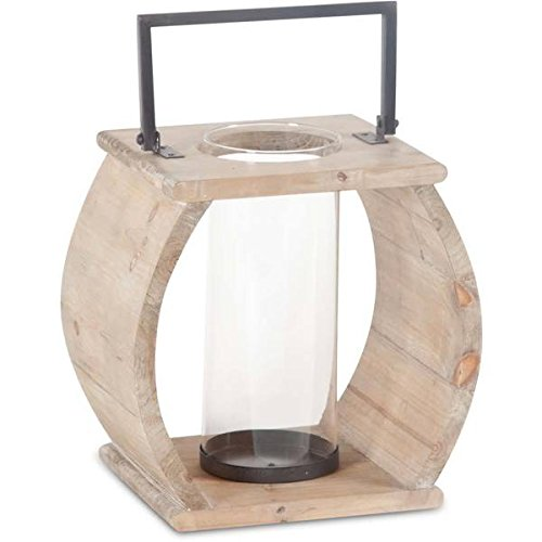 Brighton  Natural Wood Candle Holder