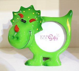 'Green Dinosaur Childrens Sculpted Photo Frame, 3 x -