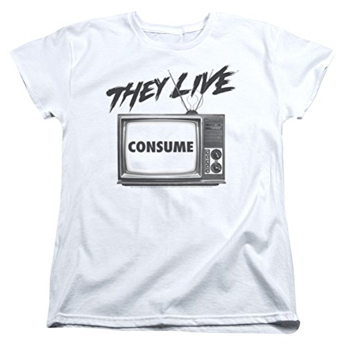 A&E Designs Ladies They Live Consume Shirt, White, 2XL ()