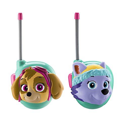 Paw Patrol Skye and Everest Walkie Talkies for Kids Static Free Extended Range Kid Friendly Easy to Use 2 Way Walkie Talkies