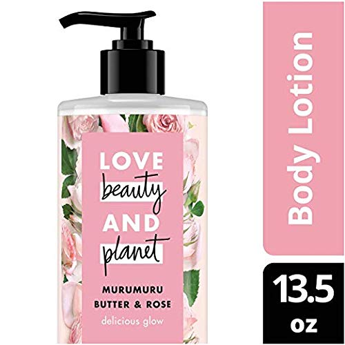 Love Beauty and Planet Murumuru Butter & Rose Body Lotion, Delicious Glow, 13.5 fl oz (Pack of 2) ()