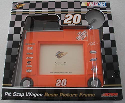 Nascar Pit Stop Wagon Resin Picture Frame 3 1/2