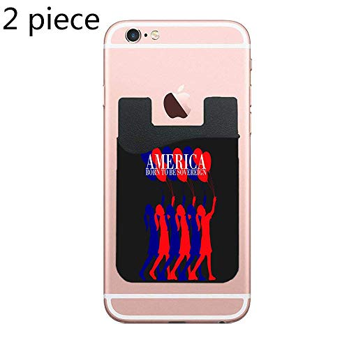 (Cellcardphone Phone Card Holder, Pofesun 2 Pack Mix Color Adhesive Sticker ID Credit Card Wallet Pocket Pouch Sleeve Universal Compatible for Smartphone - Sovereign American Girls)