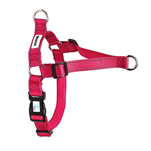 DEXDOG EZTrainer No Pull Front Attachment Clip Dog Harness for Training Running Comfort (X-Small, Pink)