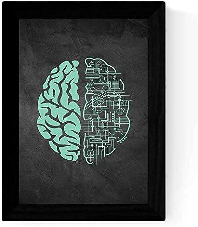 Lámina Conexión cerebral,Tamaño A3 (29.7x42cm),Con marco,Impreso en papel de alta calidad (250 gramo