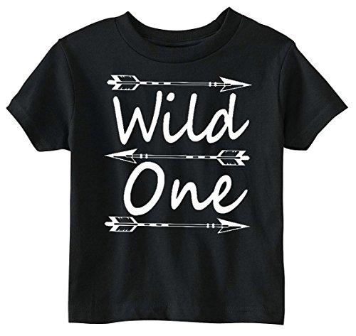 Custom Kingdom Baby Boys Wild One First Birthday Shirt (18 Months, Black)