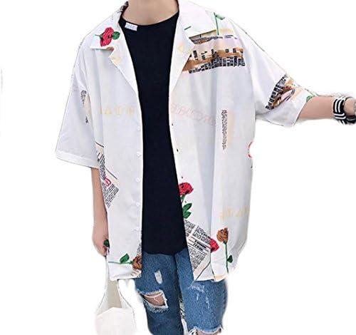 (バイバン)メンズ 半袖シャツ ゆったり 韓国ファッション ワイシャツ おしゃれ ストリート 夏物 トップス