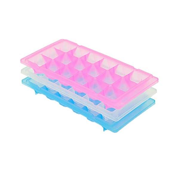 vitihipsy 18 Griglie vasche per Gelato Facile Rilascio Ice Cube Maker contenitori per muffe Fai da Te Vassoio del cubo… 1 spesavip