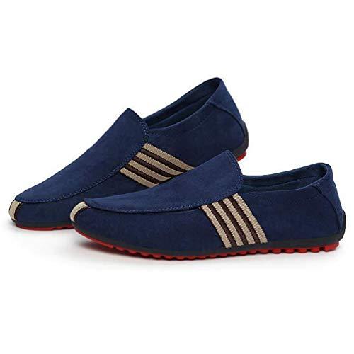 ConduccióN Mocasines Zapatos Lona Hombre Azul Casual Caminando Slip Hombre Hombres MocasíN 0gzwyq