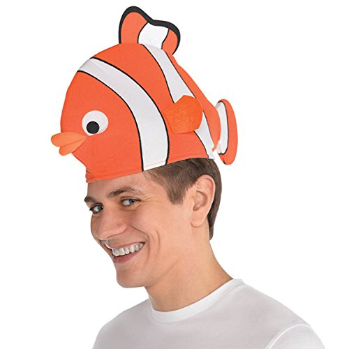 Amscan Clown Fish Hat Head (Under The Sea Themed Fancy Dress Costumes)