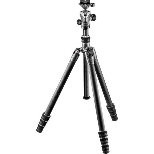 Gitzo Lightweight Series 1 Traveler Carbon Fiber Tripod with Center Ball Head, Silver & Black (GK1545T-82TQDUS)