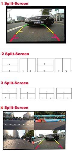 Auto Wayfeng WF/® IR-Steuerung 4 Kameras Video-Steuerung Auto-Kameras Bild-Schalter Combiner-Box f/ür die Linke Ansicht Rechte Ansicht Vorne Hinten Parkplatz Kamera-Box