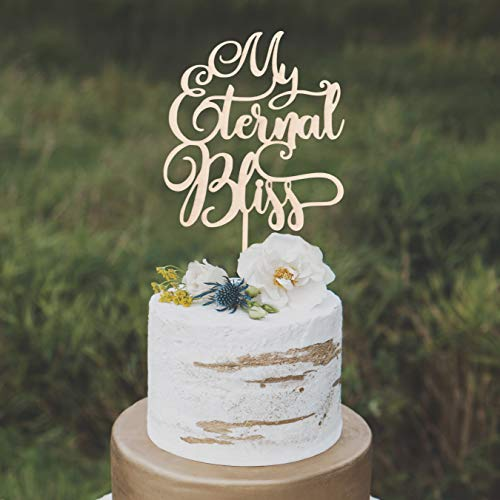 659ParkerRob Religious Wedding Cake Topper My Eternal Bliss Cake Topper Love Cake Topper Elegant Wedding Cake Topper (Wedding Bliss Cake Topper)