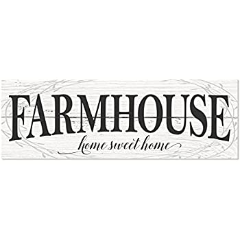 Farmhouse Home Sweet Home Rustic Wood Wall Sign 6x18