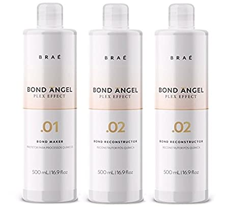 Bond Angel Plex Effect, Bond Multiplier Treatment Kit for Bleaching and Coloring protection for All Hair Types - Step1,2,2 (100ml) Brae TravelingStylistKit