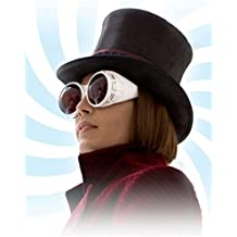 Johnny Depp as Willy Wonka Wearing T.V. Goggles Side Profile Swirl 8 x 10 Inch Photo