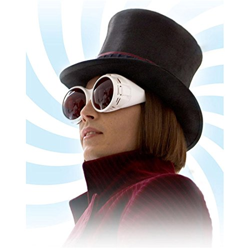 Johnny Depp as Willy Wonka Wearing T.V. Goggles Side Profile Swirl 8 x 10 Inch - Wonka Willy Goggles