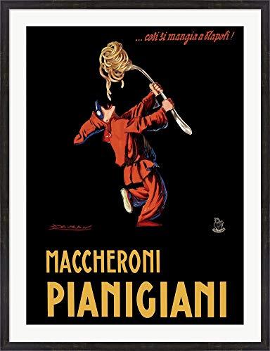 (Maccheroni Pianigiani 1922 by Achille Luciano Mauzan Framed Art Print Wall Picture, Espresso Brown Frame, 37 x 48 inches)