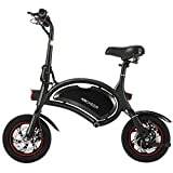 ANCHEER Folding Electric Bicycle/E-Bike/Scooter 350W Ebike with 12 Mile Range, NO APP Speed Setting (NO APP_Black)