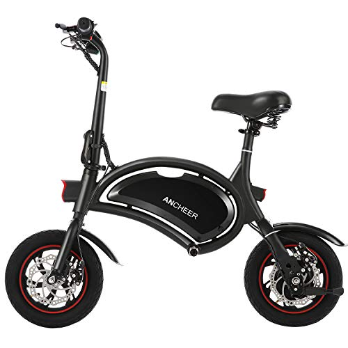 ANCHEER Folding Electric Bicycle/E-Bike/Scooter 350W Ebike with 12 Mile Range, NO APP Speed Setting (NO APP_Black) (The Best Electric Bicycle)