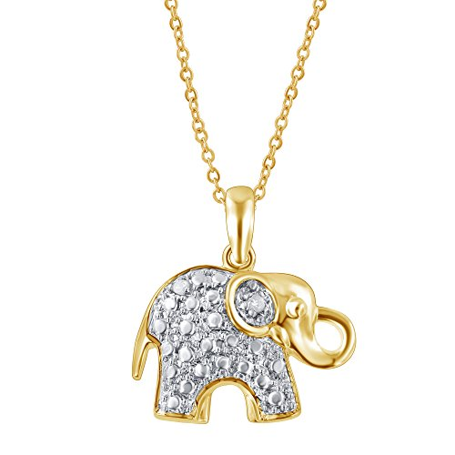 Diamond Elephant Accent Pendant (Diamond Accent Elephant Pendant)