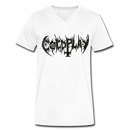 FZ coldplay diy logo V-Neck T-Shirt For Men 2016