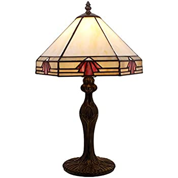 Tiffany Style Lamp Hexagon Flower Stained Glass Lampshade