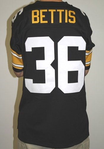 f67647bf020 Pittsburgh Steelers Mitchell   Ness 1996 Jerome Bettis  36 Replica  Throwback Jersey - Black at Steeler Mania