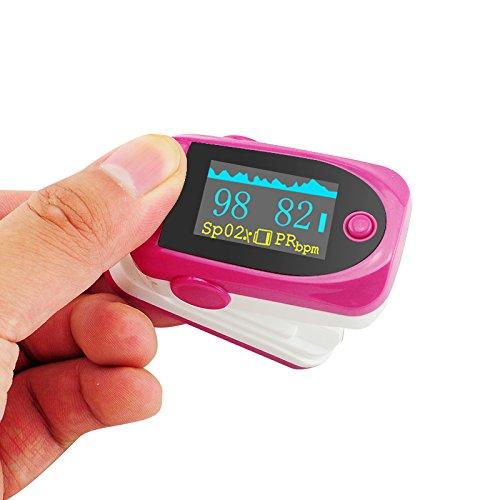 Denshine - Nuevo color OLED Pantalla LED Módulo de - Dedo Oxímetro de pulso de dedo oxímetro de pulso y monitor de frecuencia cardiaca 24h - Digital oxígeno ...