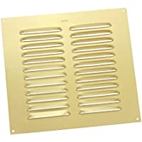 Home Smart Louvre Air Vent Brass Anodised Aluminium / Metal Ventilation Grille Cover 9 X 9
