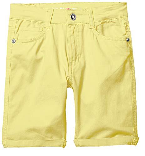 Limited Too Girls' Big' Stretch Twill Bermuda Short, Pastel Yellow, 8