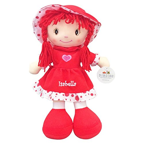 Personalized Sweetheart Cuddle Doll - 14 Inch (Red)