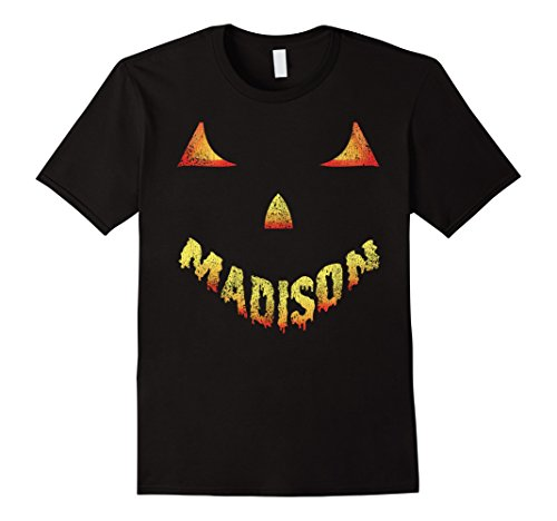 Mens Vintage Madison Halloween Scary Pumpkin T Shirt Large Black