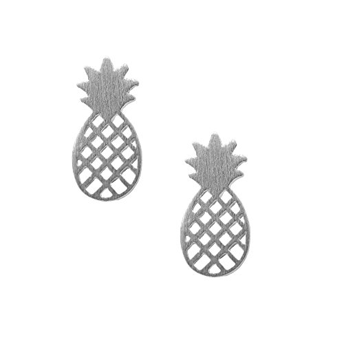 Spinningdaisy Handcrafted Brushed Pineapple Earrings