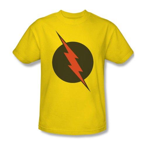 Warner Bros. Men's The Flash Reverse-Flash Logo T-Shirt XX-Large Yellow