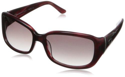 O by Oscar de la Renta Eyewear Women's SSC5092 Rectangular Sunglasses,Burgundy,174 - Sunglasses La By O De Renta Oscar