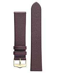 Signature Easy in Brown 18 mm watch band. Replacement watch strap. Genuine leather. Gold Buckle