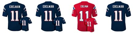 Amazon.com  Julian Edelman New England Patriots Navy NFL Kids 2016 ... e5bab22dc