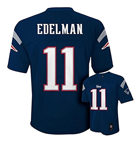 Julian Edelman New England Patriots #11 NFL Youth Mid-tier Jersey Navy (Youth Large 14/16)