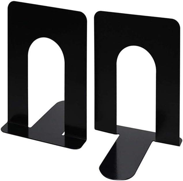 serre-livres antid/érapants Support de livre creux en m/étal pour bureau d/étude de table /à la maison /étag/ère Kaptron noire