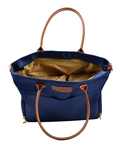 Sarah Wells ''Abby'' Breast Pump Bag, Real Leather Straps (Navy) by Sarah Wells (Image #6)