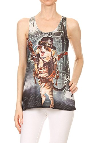 Bear Dance Women's Tank Top|Steampunk Cat