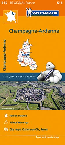 Michelin Regional Maps: France: Champagne-Ardenne Map 515 (Michelin Regional France)