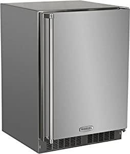 6. AGA Marvel MO24RAS1RS Outdoor Refrigerator with Lock, Right Hinge Stainless-Steel Door, 24-Inches