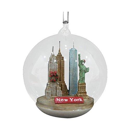 Kurt Adler 4 Inch New York City Landmark Glass Christmas Ornament ()